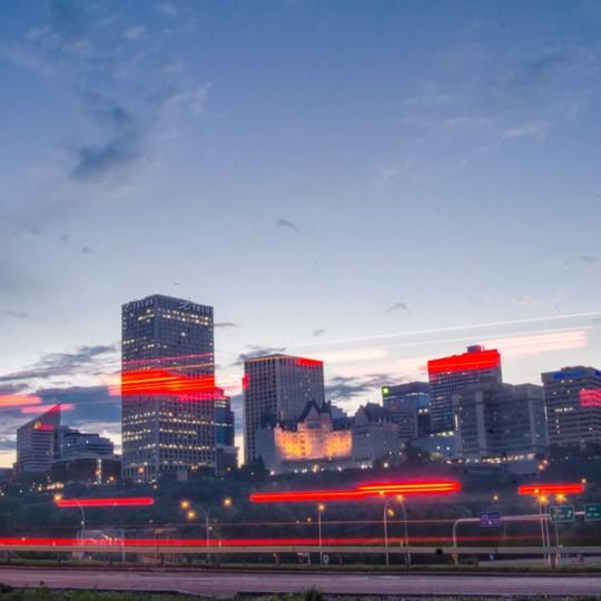 Edmonton Skyline Night Cityscape